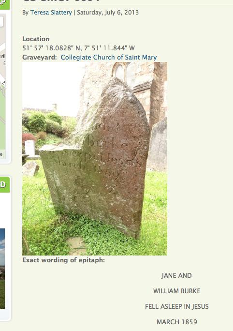 Burke grave